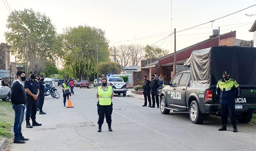 Seguridad presente en barrio Parque Chacabuco e inmediaciones