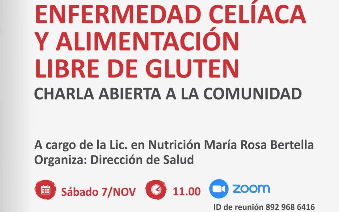 Celiaquismo: charla sobre alimentación libre de gluten
