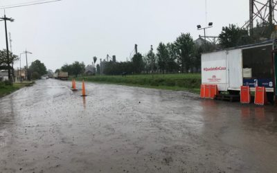 Precipitaciones en la ciudad y localidades