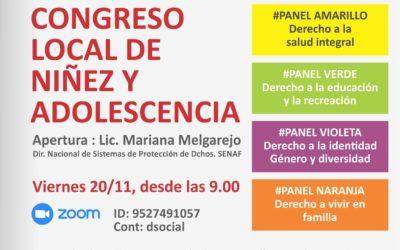 Congreso local sobre la declaración de los derechos de niños y adolescentes