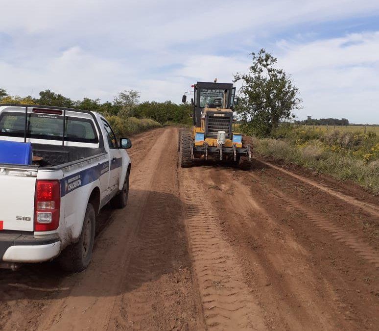 Trabajos de la semana en los caminos rurales