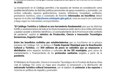 La Provincia relanza su Catálogo TC