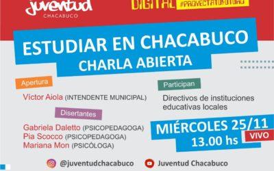 Charla «Estudiar en Chacabuco» pasa al miércoles 25