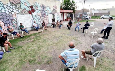 Seguridad: reunión con vecinos del barrio 9 de Julio