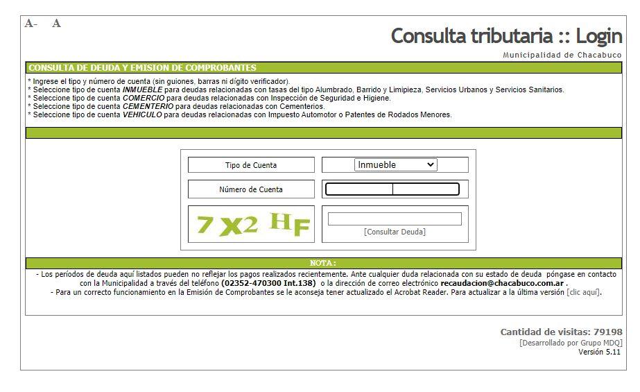 Pago de tasas municipales online