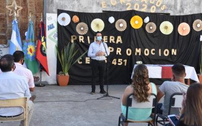 El intendente Aiola participó del acto de egresados del Centro Educativo Nivel Secundario N° 451