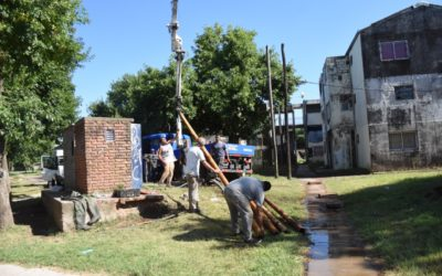 Parque Chacabuco: recambio de bomba de agua