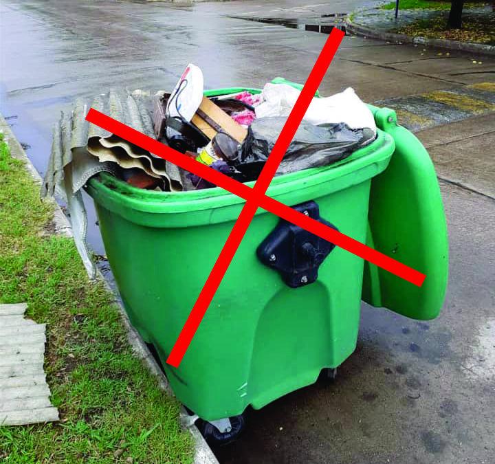 Contenedores solo para residuos domiciliarios