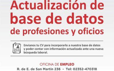 Empleo: actualización de base de datos