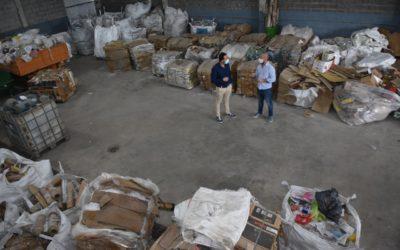 Medio Ambiente: el Intendente recorrió las instalaciones de la Planta de Reciclado
