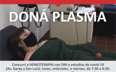 Servicio de Hemoterapia: donación de sangre y plasma