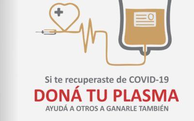 Llamado a donantes convalecientes de covid-19