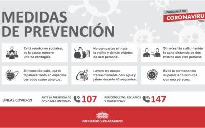 Coronavirus: El intendente anunció nuevas medidas para el partido de Chacabuco