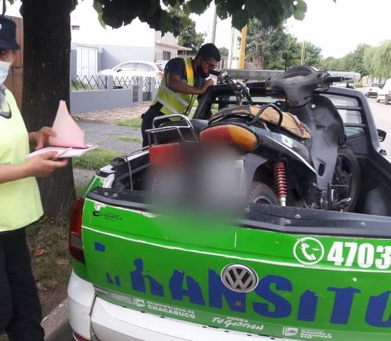 Tránsito: operativos vehiculares y controles en distintos sectores de la comunidad