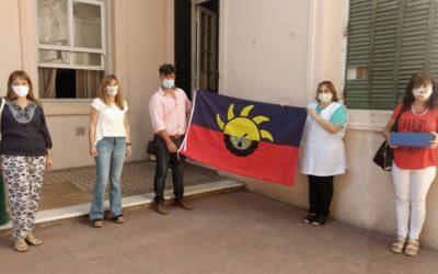 Entrega de la bandera de Chacabuco a la EP Nº1