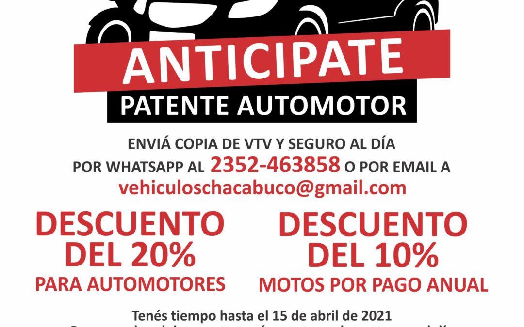 Anticipate patente automotor
