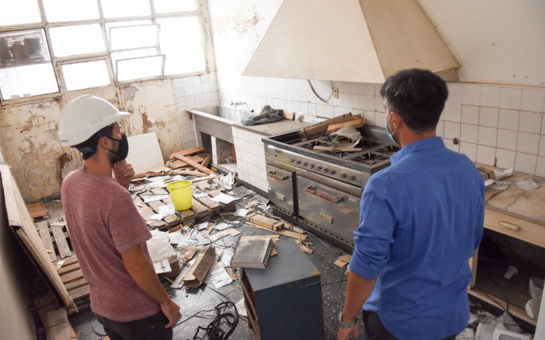 Comenzaron las obras en el edificio de Solís y Olavarría
