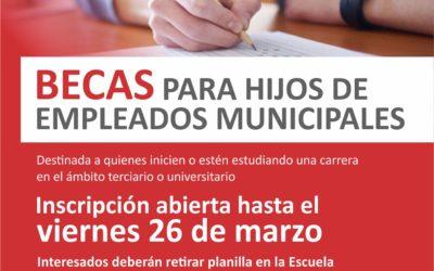 Beca para hijos de empleados municipales
