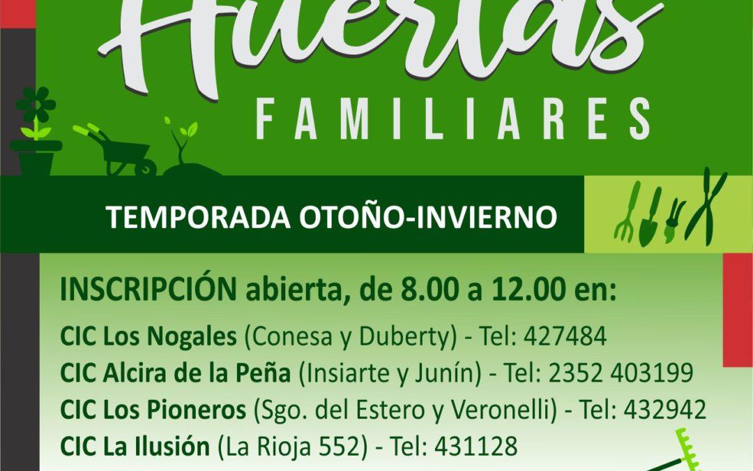 Continúa abierta la inscripción para sumarse al programa municipal Huertas Familiares
