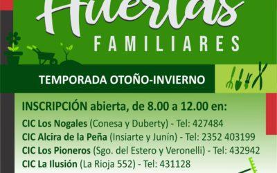 Huertas Familiares: inscripción abierta para sumarse al programa municipal