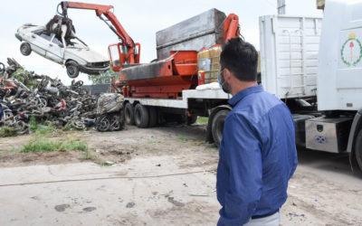 Nuevo proceso de compactación de vehículos retenidos en Chacabuco