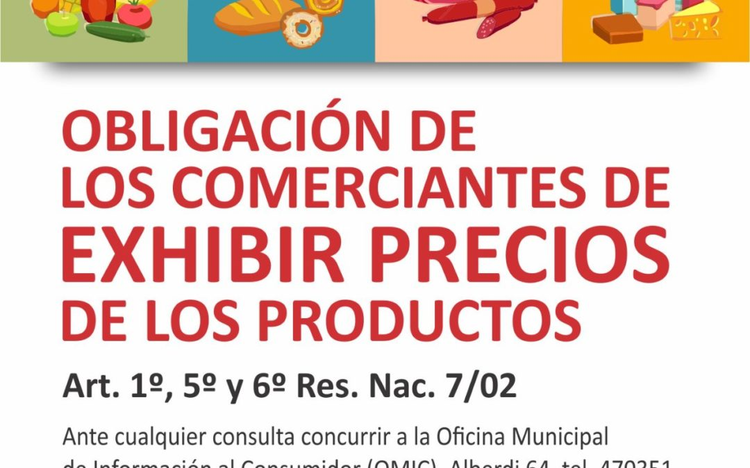 Exhibición de precios de productos