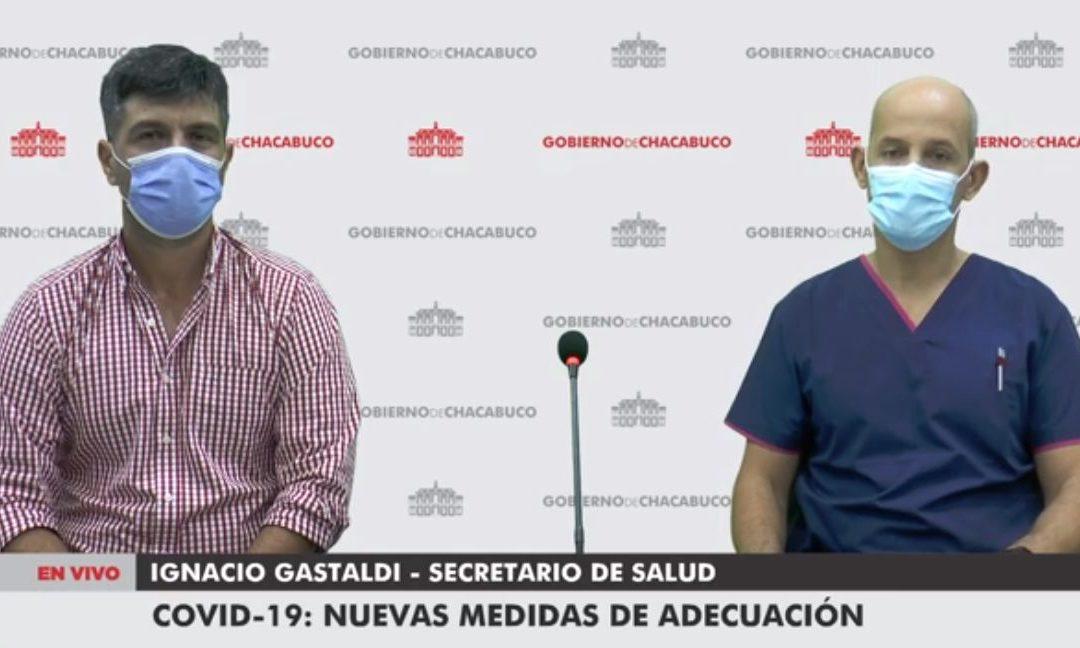 Pandemia COVID-19: nuevas medidas de adecuación para el partido de Chacabuco