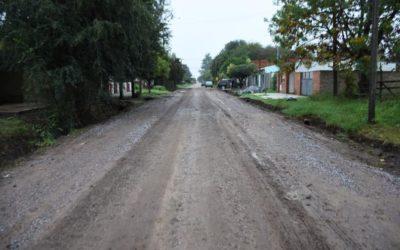 Continúa el plan de mejorado y empedrado de calles