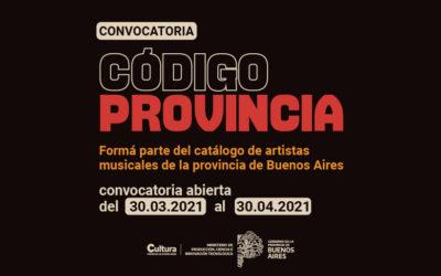 Convocatoria abierta: Código Provincia