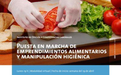 Empleo: curso de manipulación de alimentos y búsquedas laborales