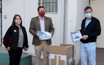 Importante donación de cascos de oxígeno al Hospital Municipal