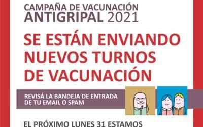 Vacunación antigripal: Envío de turnos a los correos electrónicos