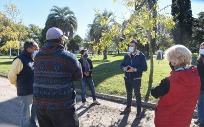 El Intendente Municipal visitó las localidades de Rawson y Castilla