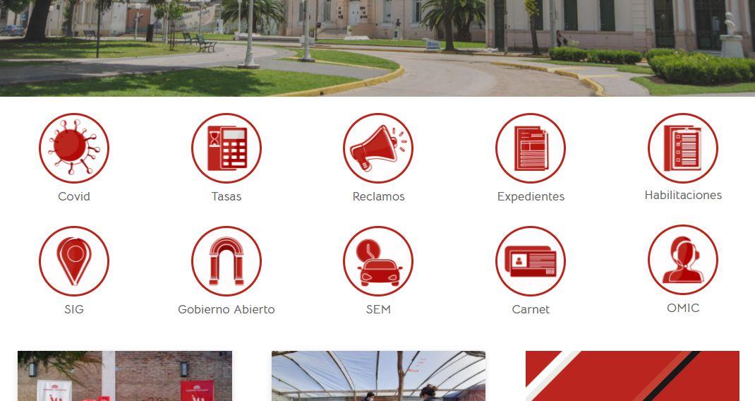Autogestión en la página web municipal