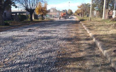 Mejorado de calles en Rawson y Castilla