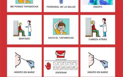 Guía de anticipación en hisopado a personas con TEA