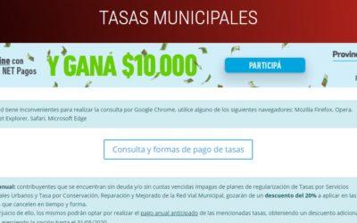 Pago de tasas municipales online: beneficios y plan de facilidades de pago