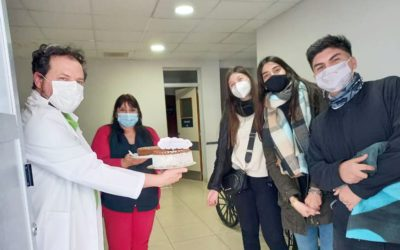 Jóvenes de la 207 de la Parroquia San Isidro Labrador agradecieron al personal de Salud