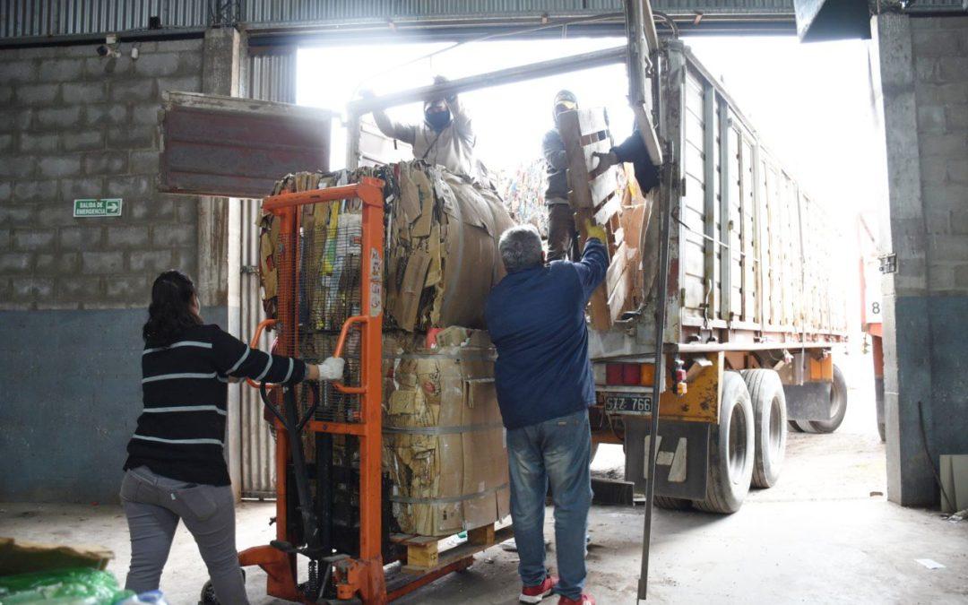 Planta de Reciclaje: se realizó una carga de 10.000 kilos de residuos