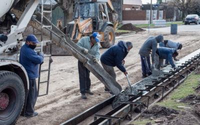 Programa de infraestructura municipal: continúan las obras de cordón cuneta