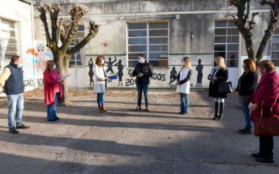 El Intendente en las localidades: establecimientos educativos se preparan para la vuelta a la presencialidad