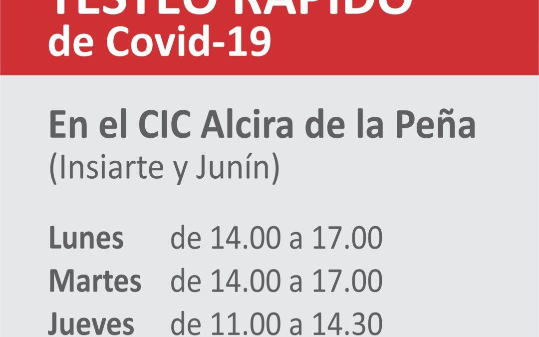 Covid-19: Centro de Testeo Rápido
