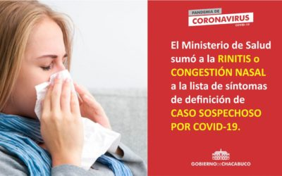 Covid-19: nueva definición de caso sospechoso