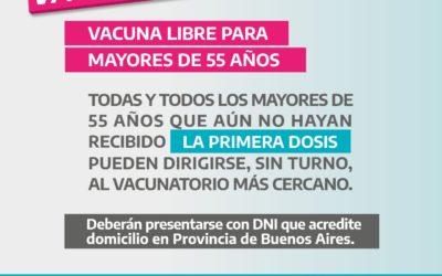Chacabuco vacunate: vacuna libre para para mayores de 55 años