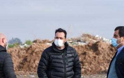 Continúan los trabajos de mejoras en el predio de disposición final de residuos