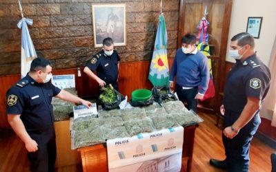 Se incautaron más de 10 kilos de marihuana en Chacabuco