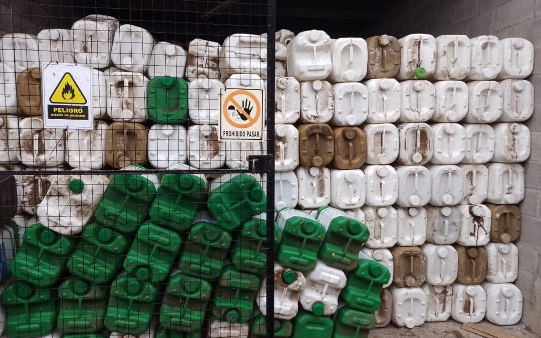 Nueva carga de envases de fitosanitarios vacíos