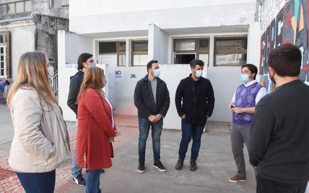Educación: avance de obra en la Escuela Manuel Belgrano