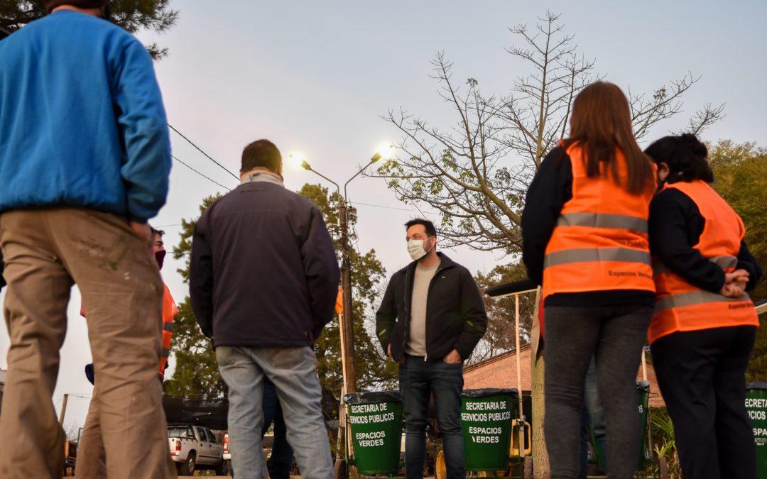 Corralón Municipal: presentación de nueva cuadrilla de Espacios Verdes