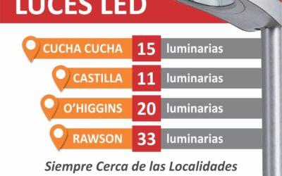 Continúa el plan municipal de colocación de luminarias LED
